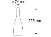 Cristallo-forster-bierflasche-masse
