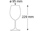 Rotweinglas_Cristallo_Mio_CateringRed_Masse