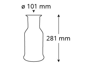 Abmessungen-P300-purity-carafe-1000ml